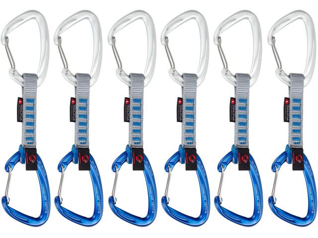Mammut Crag Wire Quickdraws 10cm Indicator 6-Pack, wire gate/wire gate, silver-ultramarine